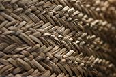 Texture Of A Wicker Basket. poster