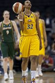 LOS ANGELES, CA. - SEPTEMBER 16: Tina Thompson after a foul was called during the WNBA playoff game