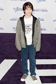 LOS ANGELES, CA - FEB 8: Actor Zachary Gordon arrives at the Paramount Pictures Justin Bieber: Never