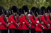 LONDON, UK - APRIL 29: Royal guards at Prince William and Kate Middleton wedding, April 29, 2011 in