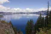 pic of klamath  - View of Crater Lake a caldera left after Mount Mazama exploded - JPG