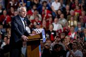 MESA, AZ - MARCH 27: Republican Senator John McCain of Arizona addresses supporters at a re-election
