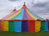 stock photo of circus tent  - Circus big top - JPG