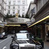LONDON- JAN 2: Famous savoy hotel, reopened after multi million pound facelift. JAN 2, 2011 in LONDO