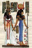 Постер, плакат: Египет папирус фон