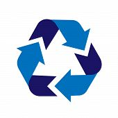 Recycle Sign Icon. Arrow Icon Vector. Recycling Sign. Recycle Symbol Graphic Design. Illustration Of poster