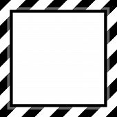 Black And White Stripe Frame Template For Background Copy Space, Banner Frame Striped Awning, Stripe poster