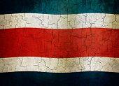 Постер, плакат: Гранж Коста Rica флаг
