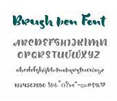 English Alphabet Handwritten Vector Script On White Background. Informal Handwriting Handwritten Fon poster