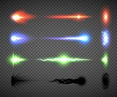Futuristic Energy Weapon Firing Effect Vectors, Sci-fi Or Computer Game Graphics Of Weapon Nozzle Fl poster