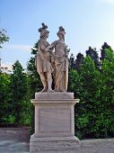 picture of ares  - The statues of Ares and Athena in the gardens of the Schonbrunn Palace Vienna Austria - JPG