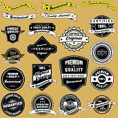 Retro Style Vintage Labels And Emblems Collection
