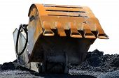 image of oversize load  - The big ladle of a dredge - JPG