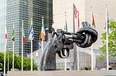 Non Violence Sculpture At United Nations