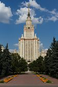 picture of mater  - Vertical image of Moscow State University - JPG