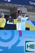 First Lady Michelle Obama Encourages Kids to Stay Active at Arthur Ashe Kids Day