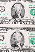 foto of two dollar bill  - Background of two - JPG