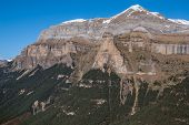 Monte Perdido In Ordesa National Park, Huesca. Spain.