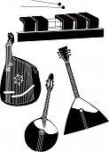 stock photo of muse  - musical instruments music balalaika muse creativity object - JPG