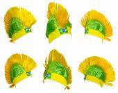 picture of headgear  - Headgear for fans Brazilian national football team - JPG