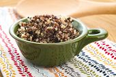 pic of quinoa  - Tricolor quinoa grain in a ceramics bowl - JPG