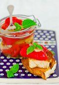 picture of marinade  - marinaded in Italian sweet pepper on crackling bread - JPG