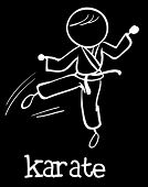 stock photo of karate-do  - Illustration of stickman doing karate - JPG