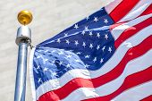 stock photo of flag pole  - Close - JPG