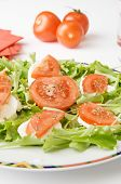 Mozzarella Cheese, tomato and rocket