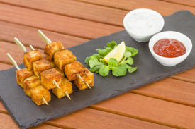 picture of raita  - Paneer Tikka Kebab  - JPG