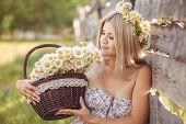 image of chamomile  - Village woman - JPG