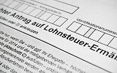 foto of income tax  - German tax form - JPG