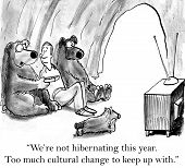 picture of not talking  - The bears are not hibernating because there is too much cultural change around the world to keep up with - JPG