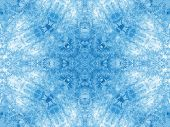 stock photo of freezing temperatures  - Background with blue concentric abstract ice pattern - JPG