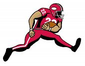 picture of scat  - An illustration of a football running back - JPG