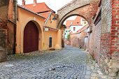 stock photo of sibiu  - Old Town in the historical center of Sibiu Romania - JPG