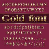 pic of coat  - Vector gold coated alphabet letters - JPG