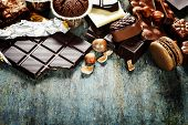foto of chocolate muffin  - An assortment of  white - JPG