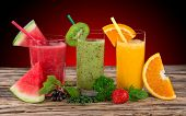 foto of fruit-juice  - Fresh juice mix fruit - JPG