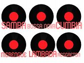 Постер, плакат: Latin Music Genres Vinyl 6