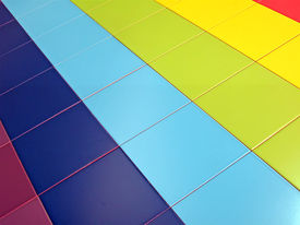 stock photo of ceramic tile  - color tiled rectangles pile - JPG