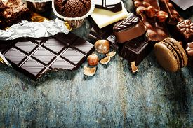 pic of chocolate muffin  - An assortment of  white - JPG