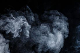 stock photo of smoke  - Abstract smoke moves on a black background - JPG