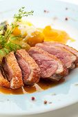 pic of duck  - Duck Breast with Orange and Potato - JPG