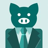 picture of pig head  - Business Pig - JPG