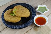 image of high calorie foods  - kachori is a popular fried indian snack - JPG