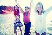 image of bff  - Women Fun Beach Girls Power Celebration Concept - JPG