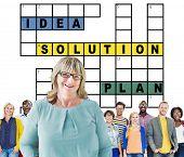 picture of scrabble  - Solution Ideas Plan Solving Result Crossword Concept - JPG