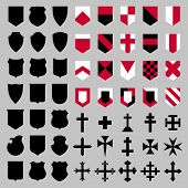 picture of composition  - Set of vector heraldic elements  - JPG