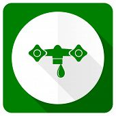 stock photo of hydraulics  - water flat icon hydraulics sign  - JPG